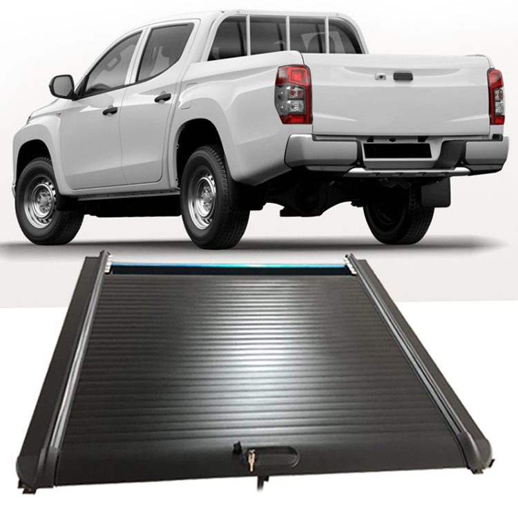 No Drilling Retractable Pickup Tonneau Cover Truck Bed Roller Lid Tonneau Cover For Mitsubishi Triton L200 Buy Tonneau Cover For Mitsubishi Triton Roller Lid Shutter For L200 Truck Bed Cover Product On Alibaba Com