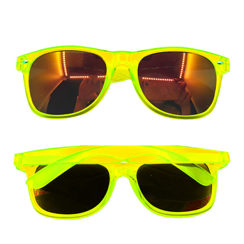 glowing Sunglasses 2019 candy color sun glasses glowing in dark sunglasses