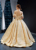 RSM66938 Jancember sweetheart golden ball gown lace up back real sample evening gown