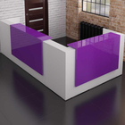 wholesale high end office furniture modern white purple office reception table furniture