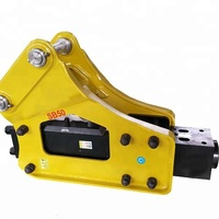 Road construction equipment hydraulic rock breaker for mini excavator with two chisels