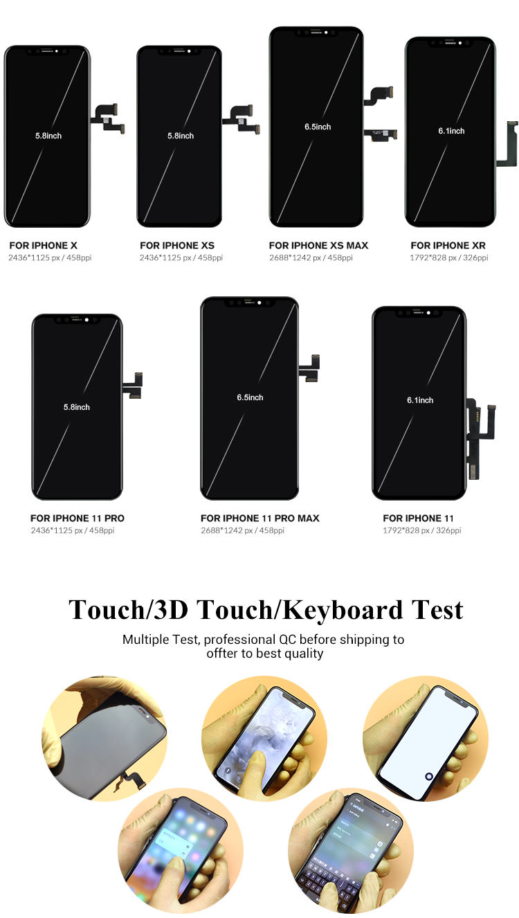 OEM Lcd Display GX OLED quality Screen Replacement for iPhone X, Xs, Xr, Xs Max