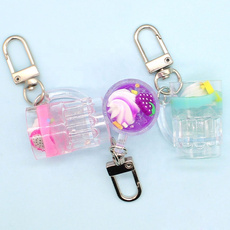 Interesting give aways <strong>gifts</strong> <strong>cute</strong> fruits and ice cream mug key chain simulation key charms