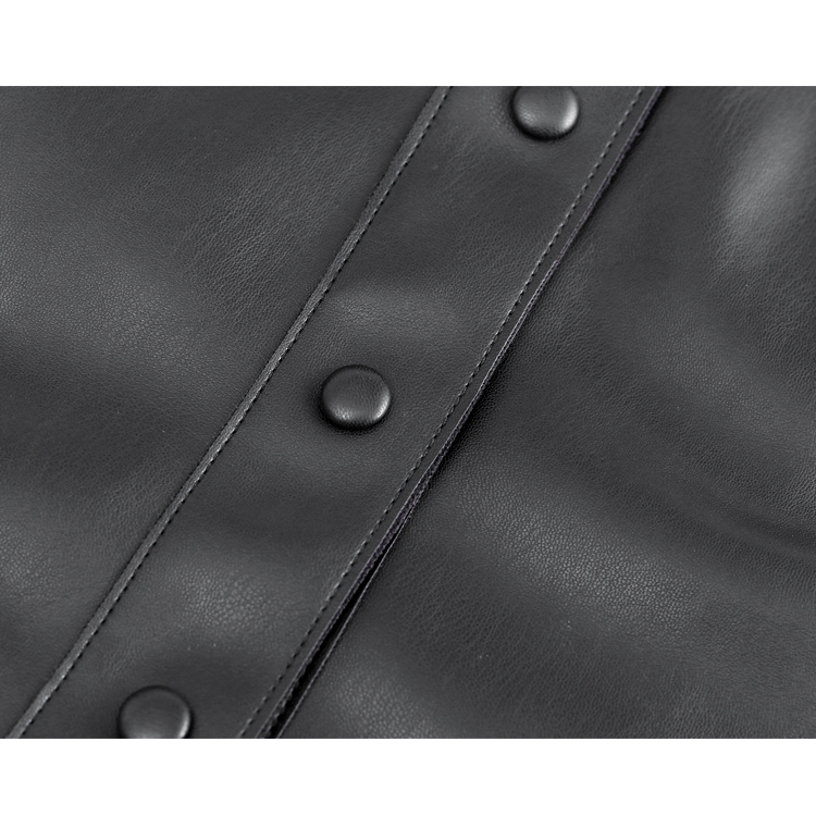 Retro style pu leather for clothes women large size leather bodycon dress