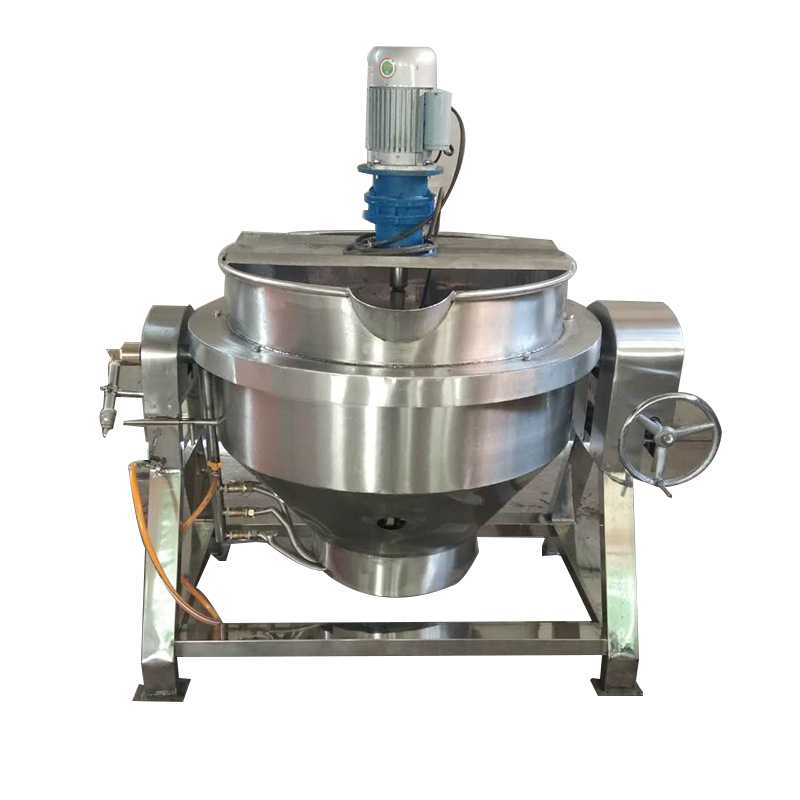 Mezzanine pot Gas mixing cooking pot Tilting fixed type meat sandwich pot for food processing