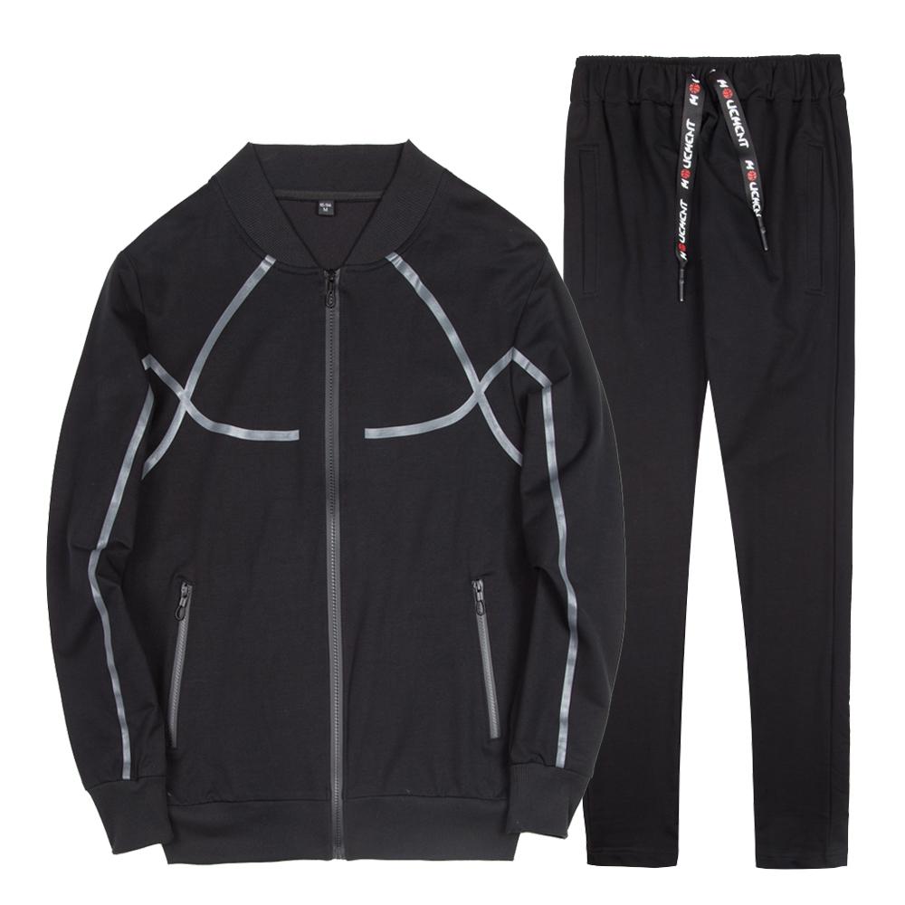男性ランニングストライプバルクトラックスーツジョギングスポーツジャケットスーツ