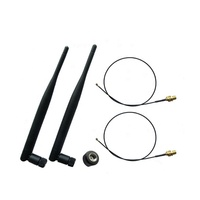 2 Pcs 2.4GHz 5GHz Dual Band Tilt Rubber Duck WIFI Antenna 6DBi Pigtails With ufl RP-SMA connector