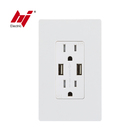cUL UL 120V Wall Mounted USB Power Outlet with 15A 20A US Socket