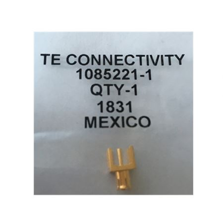 SeekEC Connector MCX PL 0Hz to 4GHz 50Ohm <strong>Solder</strong> ST Thru-Hole Gold <strong>ROHS</strong> 1085221-1