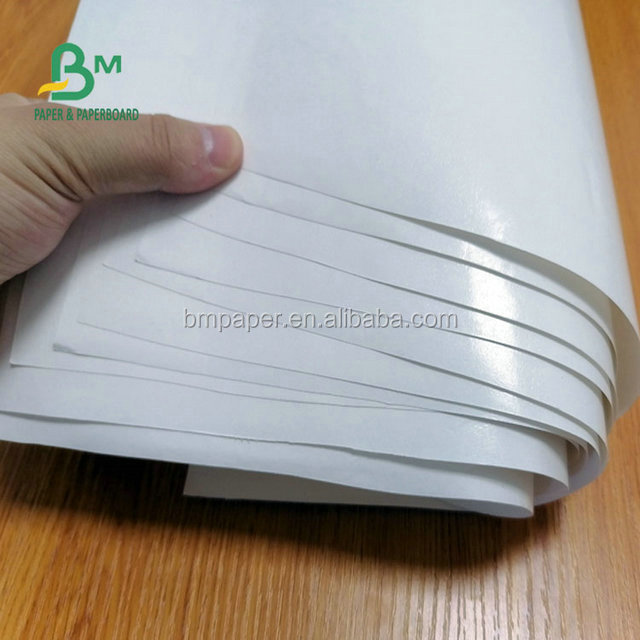 Waterproof White Kraft Paper Roll PE Coated Of 100gsm to 200gsm