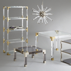 Modern Customized Clear Transparent Home Funiture End Side Desk Acrylic Coffee Table