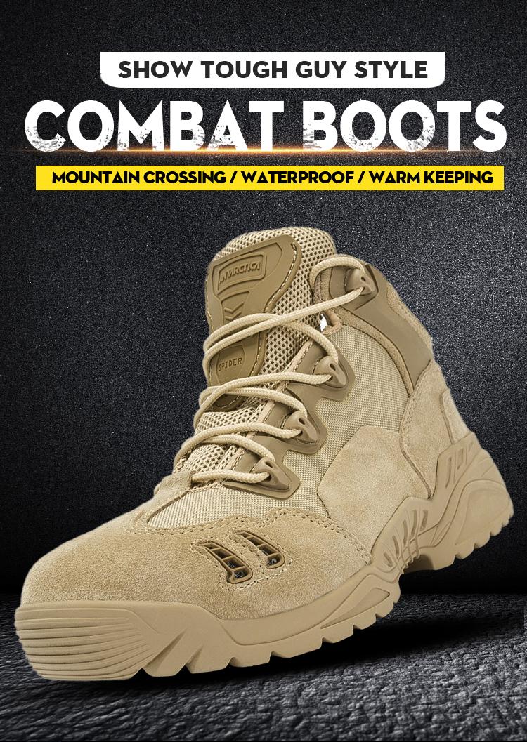 Uomini militare deserto stivali da combattimento scarpe army Sport All'aria Aperta Arrampicata Caccia stivali Impermeabili scarpe tattico militare degli uomini