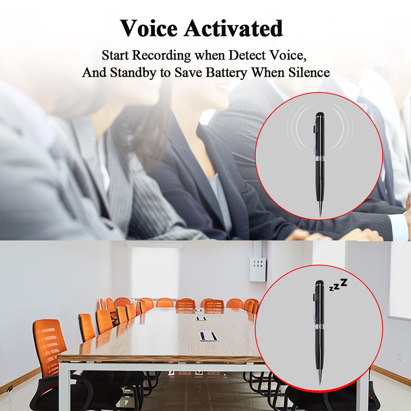 VJOYCAR H66 Professional Outdoor Spy Hidden Audio Recording Devices Repeat Hand Long Battery Life voice recorder Pen
