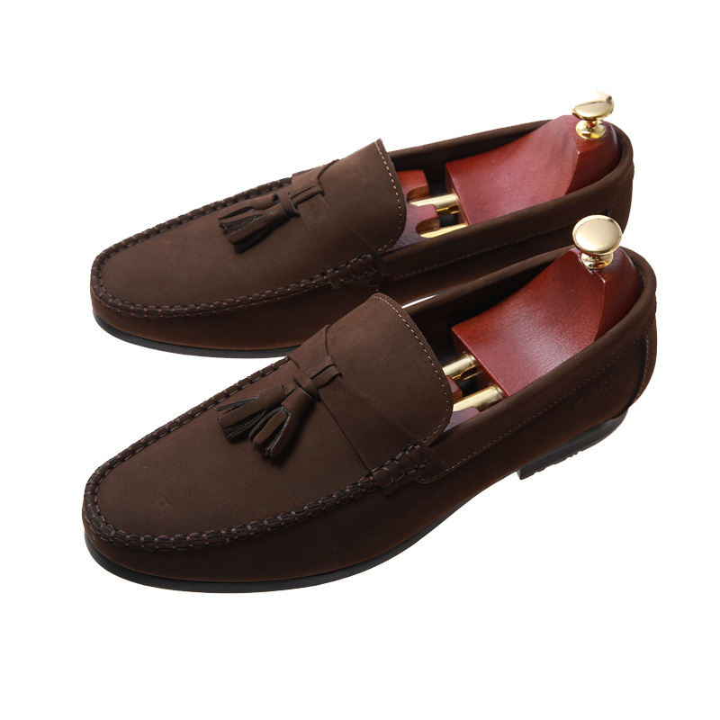 Ankle boat low heel summer breathable casual authentic made in china smart casual  brown shoes for men