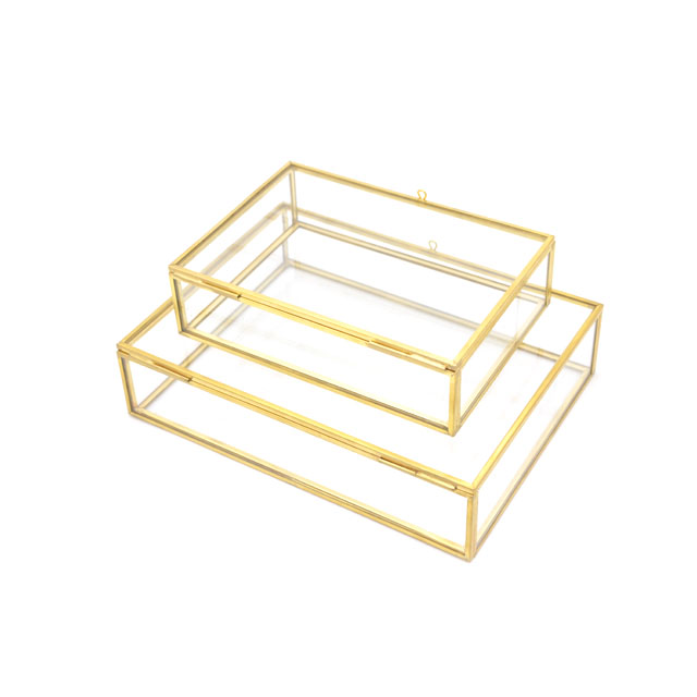 4x6 Inch Photo Memory Album of Wedding Home Showing Sweet & Glass Trinket Case - Brass Jewelry Box
