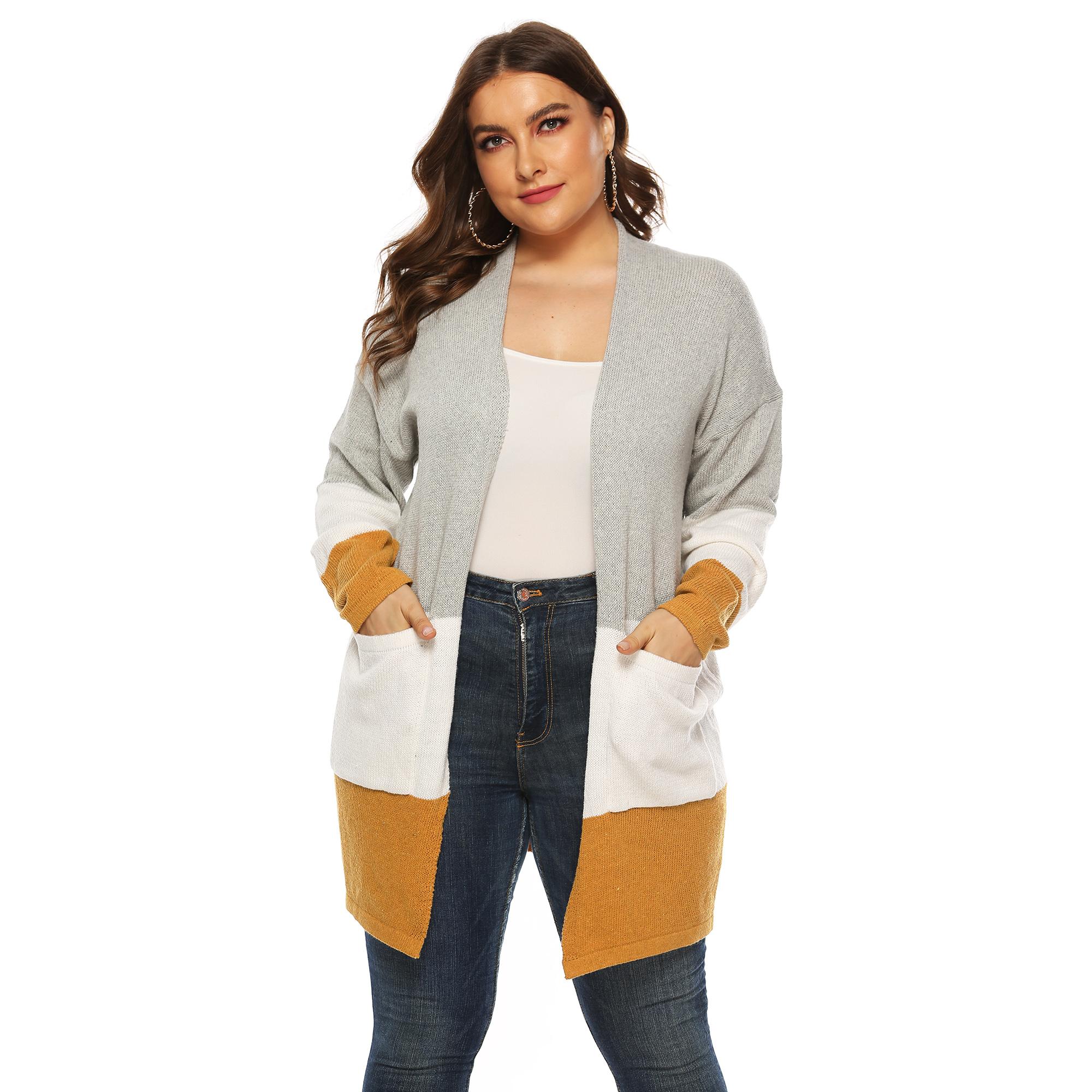 Kadın kış giyer kaşmir uzun kollu hırka kazak kore