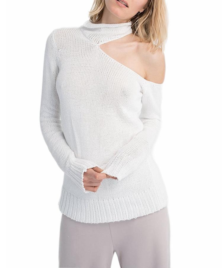 Lo último en Jersey de diseño para mujer, Jersey sexy 2020, jersey con hombros descubiertos, top para mujer