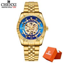 CHENXI золотые мужские часы с нержавеющей сталью Топ бренд класса люкс мужские спортивные автоматические механические часы мужские часы Relogio ...(Китай)
