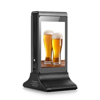 Order Call Restaurant Table Advertising Ad Player Desktop Digital Android WiFi 7 Inch LCD Table Stand Advertising Display Player