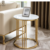 MADEFINE VY-010 Modern White Marble Top Gold Stainless Steel Base Livingroom Side Table Coffee Table Set