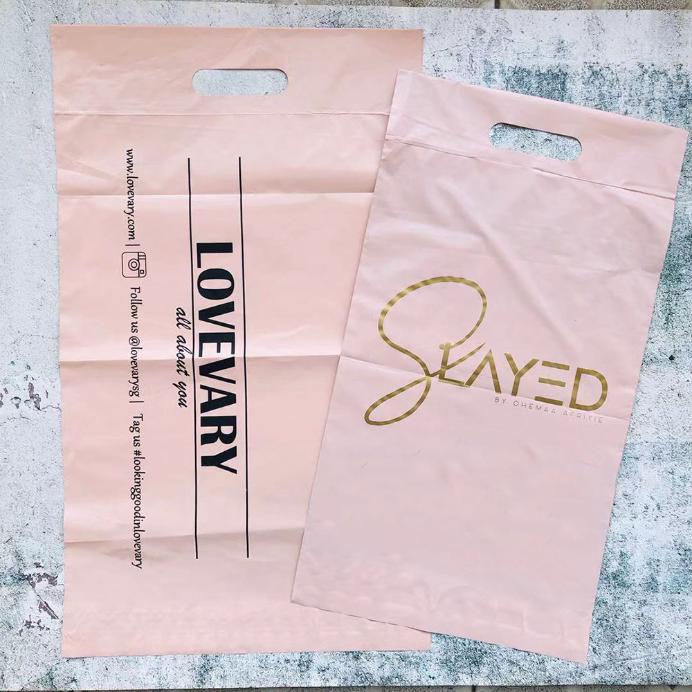 biodegradable  matte pink custom shipping bags poly mailer bags courier bags with logo for clothing