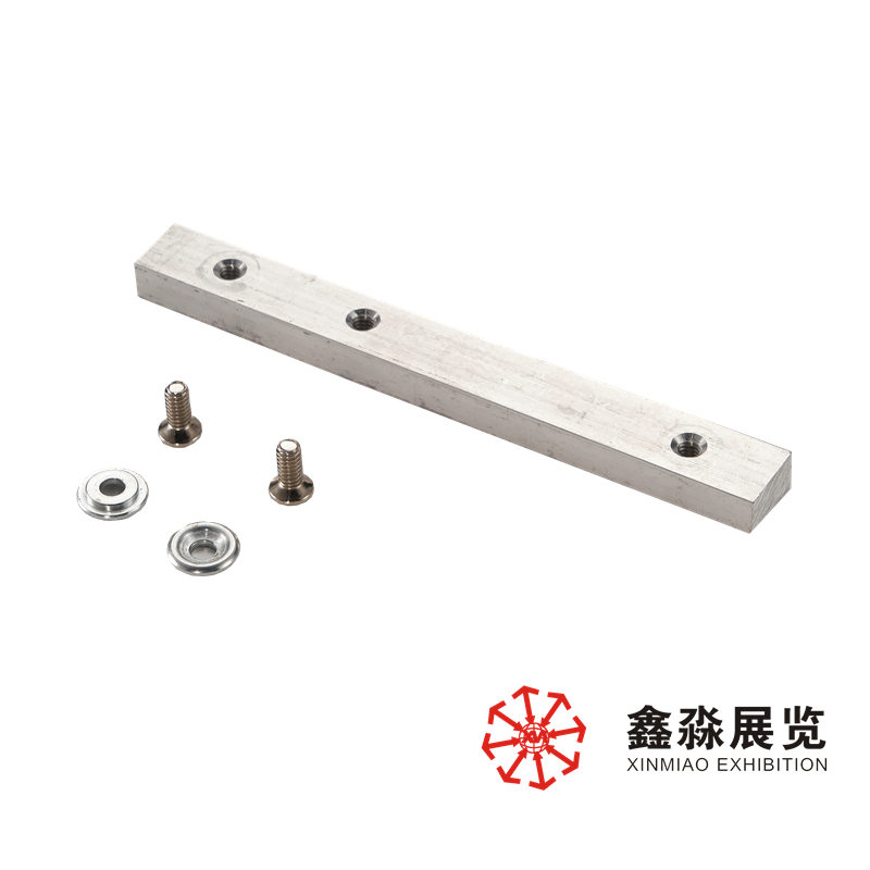 connector for beam extrusion(aluminum), 12x21mm tension lock aluminum booth beam extension fitting