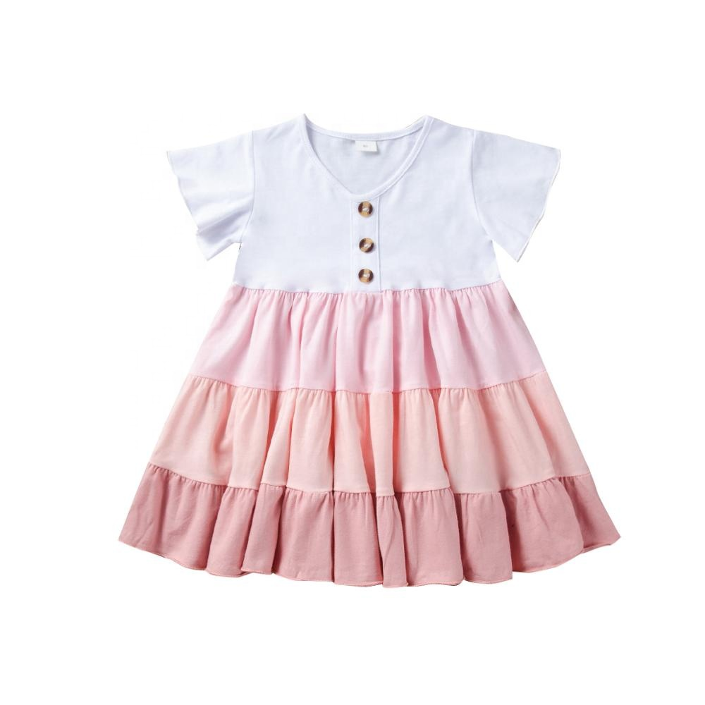 <strong>Fashion</strong> 2020 New Design High Quality <strong>Girls</strong> Boutique <strong>kids</strong> Pink patchwork style Clothing