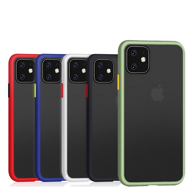 For iPhone 11 Soft TPU Bumper Slim Anti Slip Protective Phone Case Cover For iPhone 11Pro Max 2019