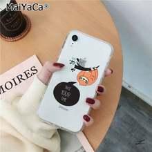 MaiYaCa Ленивец милые животные прозрачный мягкий чехол для телефона для iPhone 11 pro XS MAX 8 7 6 6S Plus X 5 5S SE XR чехол(Китай)