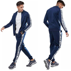Custom Latest Design Mens Slim Gym Training Plain Fitted Tracksuit