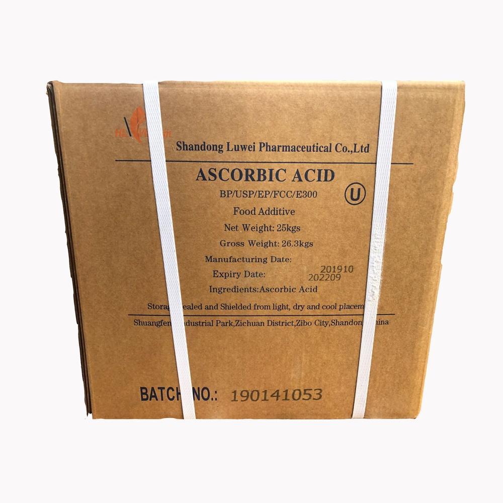 Thực Phẩm Lớp Pharma Lớp Vitamin C 99%, Luwei Ascorbic Axit USP32 E300 Bột Mịn