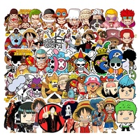 50Pcs One Piece Japan Cartoon Vinyl Sticker For Boy Home Phone Case Luggage Laptop Gift Graffiti Anime Stickers