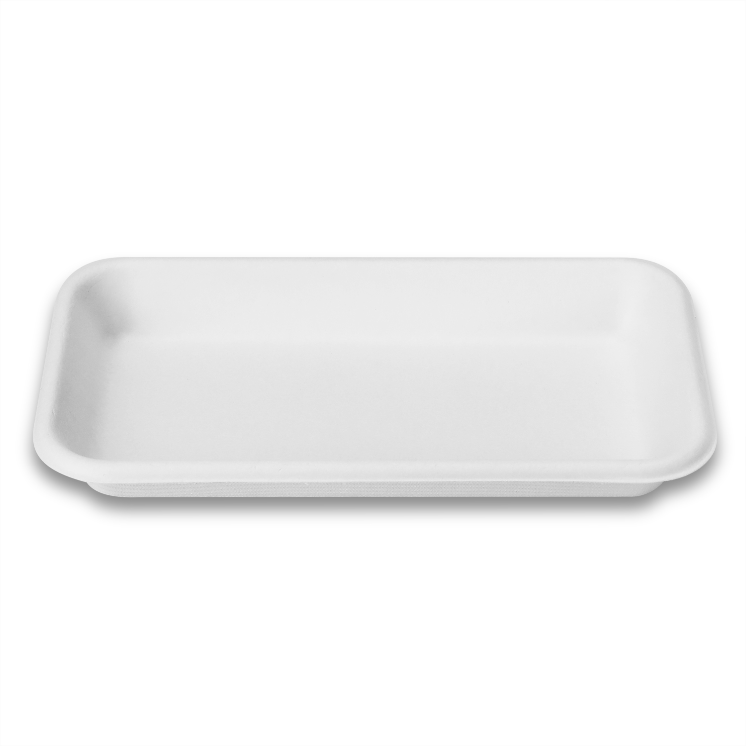 White Biodegradable Meat Tray Microwavable Restaurant Eco Friendly Fresh Food Retail Packaging Trays