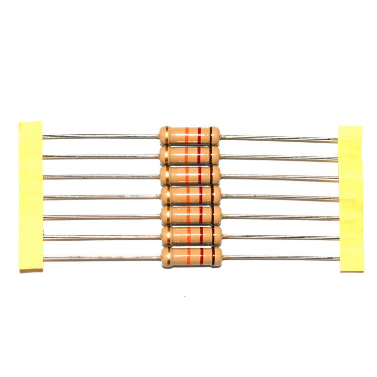 1/8W1/4W 1/2W 1W 0.125W 0.25W Tahan 0.5W 4.7R-10M Ohm 5% CP Kawat CU Resistor Kawat Karbon Film