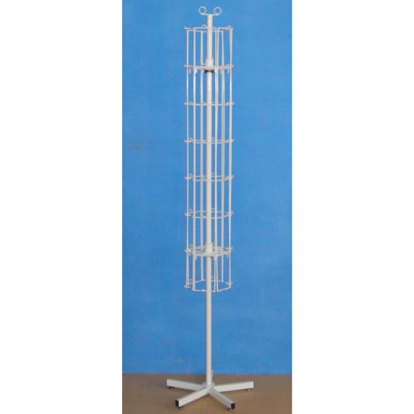 retail stores steel  fixture  floor standing  revolving metal display rack with peg hooks for hanging gifts ornaments