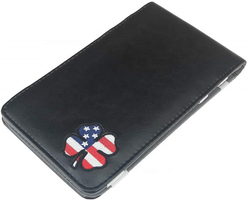 Preço Direto Da fábrica PU Couro Personalizado Titular Scorecard Golfe com Prender o Cartão de Lápis Bolso Personalizado EUA Amazon Hot Vendas
