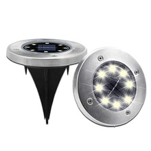 Caldo di Vendita di Smart Prato Patio Led In Acciaio Inox Solar Powered Disco <span class=keywords><strong>Luce</strong></span> A Terra, verde Powered Outdoor 8 ha condotto la <span class=keywords><strong>Luce</strong></span> <span class=keywords><strong>Solare</strong></span> <span class=keywords><strong>del</strong></span> <span class=keywords><strong>Giardino</strong></span>