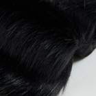 Black Color Long Pile Plush Faux Fur Fabric