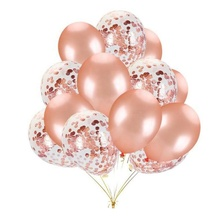 China Transparant Clear Globos Rose Gold Helium Latex Party Confetti Ballons Ballonnen