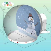 Xmas Decoration Large Small inflatable Snow Globe Christmas Snow Ball Custom Background