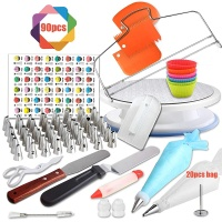 New Product Hot Sale Cake Decorating Set Cake Tools 90 Pieces Cake Turntable Set