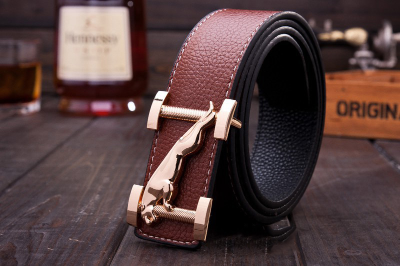 Wholesale personalized men's pu leather belts with slider belt buckle
