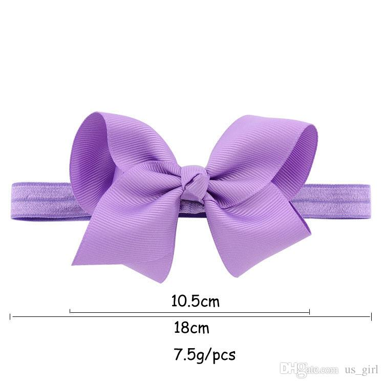 Brand NEw Toddler Baby Nylon <strong>Headband</strong> With 4 Inch Hair Bow Infant Elastic Hairbands Baby Girl <strong>Headband</strong> 20Colors
