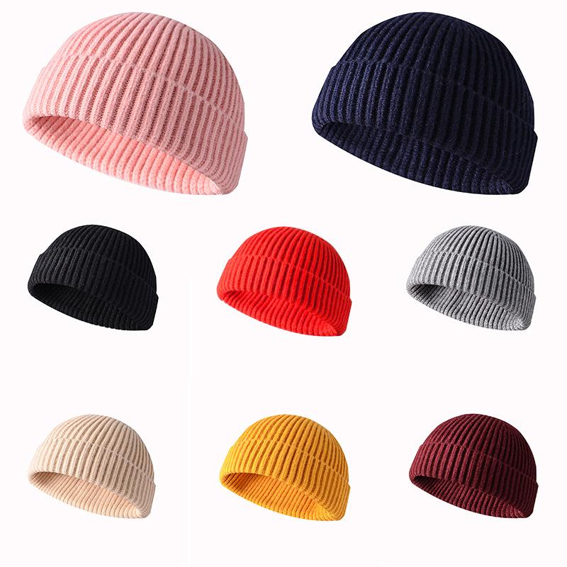 100% Kasjmier Warme Acryl Garen Voor Breien Hoed Hot Koop Black Knit Winter Hat