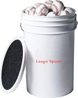 Plastic Bucket of Baseballs Practice Baseballs in 6 Gallon Padded Bucket Cushioned Lid Seat