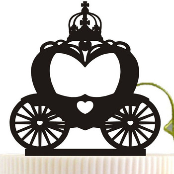 Halloween Pumpkin Carriage holiday cake decorating topper party cake decoration