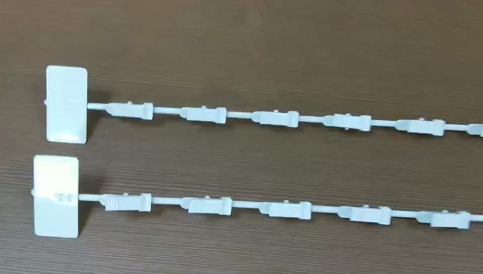 Rak Logam Klip Gantung Strip dengan 12 Kait untuk Supermarket