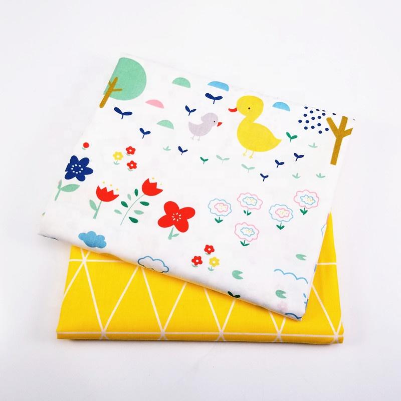 100% cotton Cartoon printed Woven twill bedding Set baby fabric