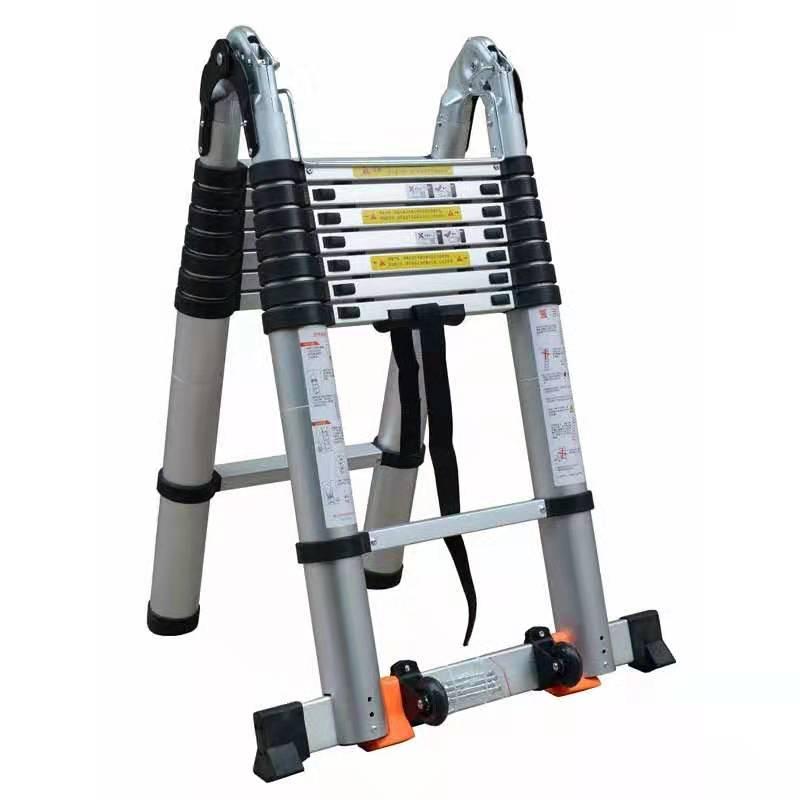 Multy purpose telescopic extention folding aluminum ladder