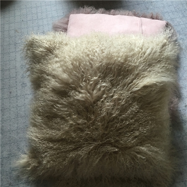 Wholesale price mongolian lambskin floor cushion
